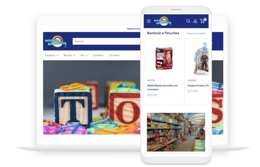 Digitala - Sito Web Paradiso dei Bambini